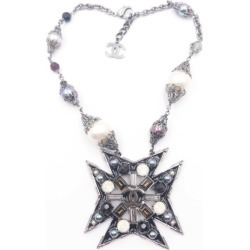 Chanel Faux Pearl Star Necklace Gunmetal Silver Multicolor found on Bargain Bro India from StockX Holdings LLC for $1430.00
