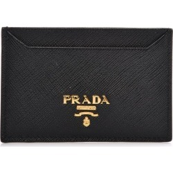 Prada Metal Card Case Wallet Saffiano Nero Black found on Bargain Bro Philippines from StockX Holdings LLC for $175.00