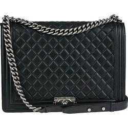 Chanel Boy Flap Quilted Lambskin Ruthenium Large Black found on Bargain Bro India from StockX Holdings LLC for $5499.00