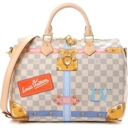 Louis Vuitton Speedy Bandouliere Damier Azur Summer Trunks 30 White/Blue Multicolor found on Bargain Bro Philippines from StockX Holdings LLC for $3375.00