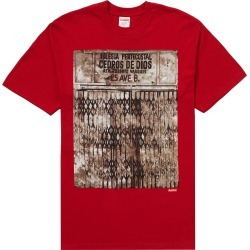 Supreme Martin Wong Iglesia Pentecostal Tee Red found on Bargain Bro India from StockX Holdings LLC for $62.00