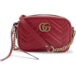 Gucci GG Marmont Camera Shoulder Bag Quilted Mini Hibiscus Red found on Bargain Bro India from StockX Holdings LLC for $850.00