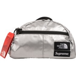 Supreme The North Face Metallic Roo II Lumbar Pack Silver