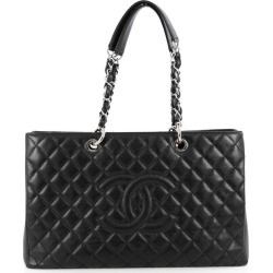 Chanel Shopping tote Quilted Caviar Silver-tone Grand XL Black found on Bargain Bro India from StockX Holdings LLC for $6200.00
