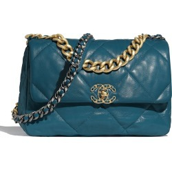 Chanel 19 Flap Bag Goatskin Gold/Ruthenium-tone Turquoise found on Bargain Bro India from StockX Holdings LLC for $6500.00
