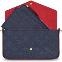 Louis Vuitton Pochette Felicie Monogram Empreinte Marine Rouge found on Bargain Bro Philippines from StockX Holdings LLC for $1350.00