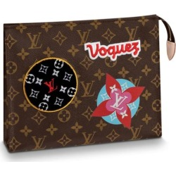 Louis Vuitton Toiletry Pouch Monogram Patches 26 Brown found on MODAPINS from StockX Holdings LLC for USD $1595.00