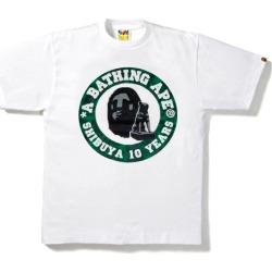 BAPE Shibuya Camo 10th Anniversary Busy Works Tee White/Green