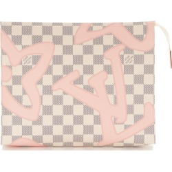Louis Vuitton Toiletry Pouch Tahitienne Damier Azur Tahitienne 26 Ivorie/ Pink/ Grey found on MODAPINS from StockX Holdings LLC for USD $775.00