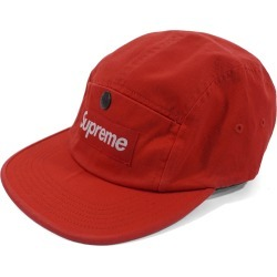 Supreme Snap Button Pocket Camp Cap Red