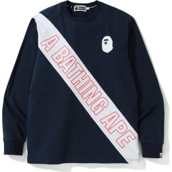 BAPE A Bathing Ape Mix L/S Tee Navy found on Bargain Bro India from StockX Holdings LLC for $249.00