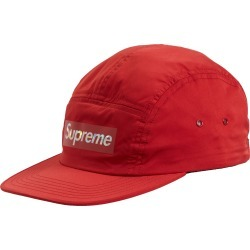 Supreme Holographic Logo Camp Cap Red