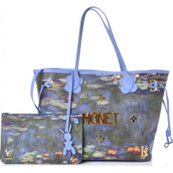 Louis Vuitton x Jeff Koons Neverfull Claude Monet Masters MM Lavender Multicolor found on Bargain Bro India from StockX Holdings LLC for $4999.00