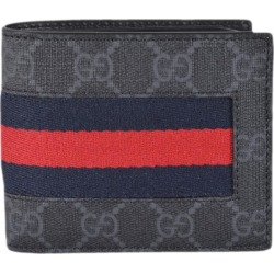 Gucci Bifold Wallet GG Supreme Web Black found on Bargain Bro India from StockX Holdings LLC for $445.00