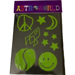 Travis Scott Astroworld Stargazing Sticker Pack Multi