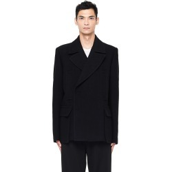 Ann Demeulemeester Black Double Breasted Pea Coat found on MODAPINS from SV Moscow for USD $1355.00