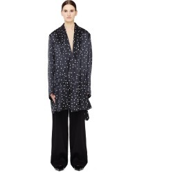 Ann Demeulemeester Back Slit Polka Dot Silk Jacket found on MODAPINS from SV Moscow for USD $1750.00