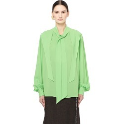 Balenciaga Acid Green Bow Tie Blouse found on Bargain Bro Philippines from SV Moscow for $1075.00