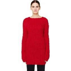 Ann Demeulemeester Red Rib Knit Wool Sweater found on MODAPINS from SV Moscow for USD $1190.00