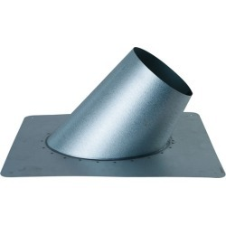 "Flat Roof Flashing for Direct Vent Pipe - 5"" Dia"
