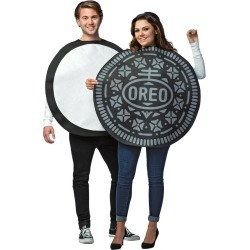 Halloween Oreo Cookie Adult Couples Costume, Adult Unisex, Size: One Size, MultiColored