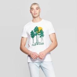 petiteMen's Short Sleeve Crewneck Nor Cal Muir Woods Graphic T-Shirt - Awake White XL