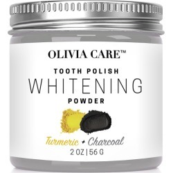 Activated Charcoal Tooth Polish Whitening Powder Turmeric - 2oz