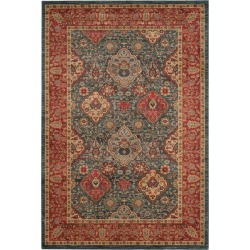 """Navy/Red Medallion Loomed Accent Rug 2'2""""X4' - Safavieh, Red Blue"""