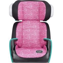 Evenflo Spectrum Booster Car Seat - Fuchsia Shock, Pink Black Blue