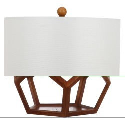 Delaney Table Lamp - Safavieh, Brown/White found on Bargain Bro India from target for $77.99
