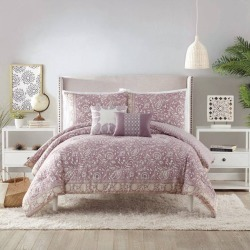Indigo Bazaar King 5pc Socorro Comforter & Sham Set Purple, Multicolored Purple Beige found on Bargain Bro India from target for $109.99