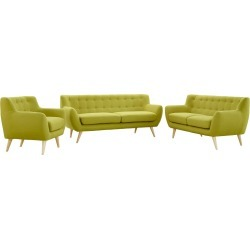 Remark 3pc Living Room Set Wheat - Modway
