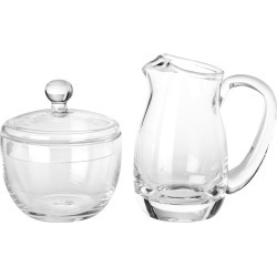 Luigi Bormioli Michelangelo Sugar and Creamer Set, Clear