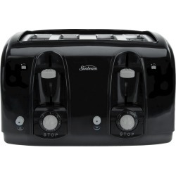Sunbeam 4 Slice Extra-Wide Slot Toaster - Black TSSBTR4SBK