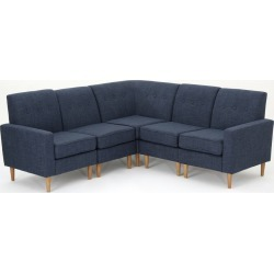 5pc Sawyer Sectional Sofa Set Dark Blue - Christopher Knight Home found on Bargain Bro India from target for $866.99