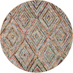 Multi-Colored Abstract Tufted Round Area Rug - (6' Round) - Safavieh, Multicolored found on Bargain Bro India from target for $269.99