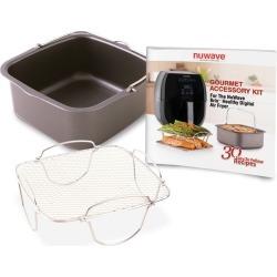 NuWave 3qt Brio Digital Air Fryer Gourmet Accessory Kit, Dark Gray