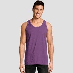 Hanes Men's 1901 Garment Dyed Tank Top - Purple M, Size: Medium found on Bargain Bro Philippines from target for $6.59