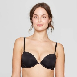 Women's Lightly Lined Plunge Bra - Auden Black 34B found on Bargain Bro Philippines from target for $14.99