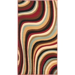"""Red/Multi Abstract Tufted Accent Rug - (2'X3'7"""") - Safavieh , Red / Multi"""