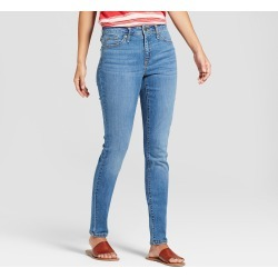 Women's High-Rise Skinny Jeans - Universal Thread Medium Wash 8, Blue found on Bargain Bro India from target for $24.99