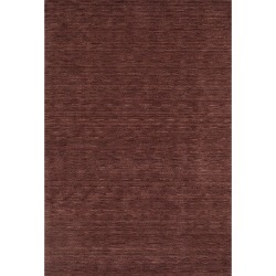 9'x13' Tonal Solid 100% Wool Area Rug Plum - Addison Rugs, Size: 9'X12', Purple