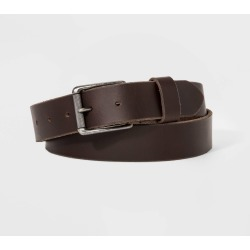 Men's Textured Roller Belt - Goodfellow & Co Brown M, Size: Medium found on Bargain Bro Philippines from target for $24.99