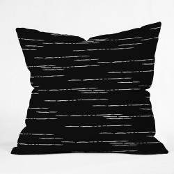 Iveta Abolina Stripes Square Throw Pillow Black - Deny Designs