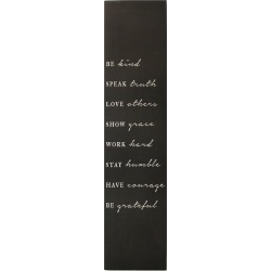 """Be Kind"" Oversized Wall Art Black - Stratton Home Decor, Black White"