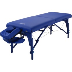 Master Massage 31 Extra Wide Montclair Pro Memory Foam Portable Massage Table Package with Reiki - Imperial Blue