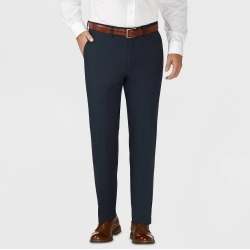 Haggar H26 Men's Tailored Fit Premium Stretch Suit Pants - Blue 32x29 found on Bargain Bro India from target for $32.99