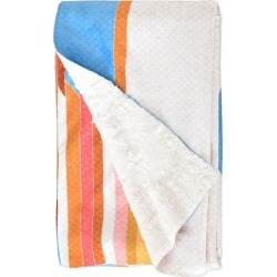 Bianca Green Fiesta Sherpa Fleece Blanket Blue/Geometric - (60X50) - Deny Designs, Blue Multicolored found on Bargain Bro Philippines from target for $59.99