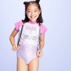 Girls' Make A Splash One Piece Rash Guard Set - More Than Magic Purple L Plus, Girl's, Size: Large Plus found on Bargain Bro Philippines from target for $22.99