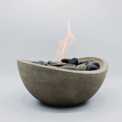 Wave Table Top Fire Bowl - Gray - Terra Flame